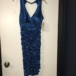 Dark Blue Prom/homecoming Dress